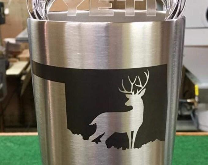 Engraved 30 oz YETI Rambler - Oklahoma Deer Hunter