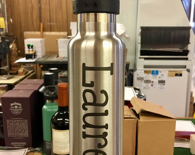 Engraved 21 oz Stainless Steel Hydro Flask - Vertical Engraving (Personalized)