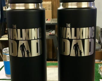 Engraved Black 26 oz YETI Tumbler - WALKING DAD