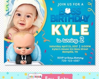 Boss Baby Invitation Party Invite Birthday Movie Printable