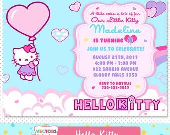 Hello Kitty Invite Etsy