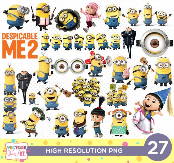 picture regarding Printable Minions referred to as Despicable Me Minions PNG CutOut Printable, Minions PNG Information Decoration Sbook Stickers Birthday Get together Clipart Agnes Gru Minions Unicorn