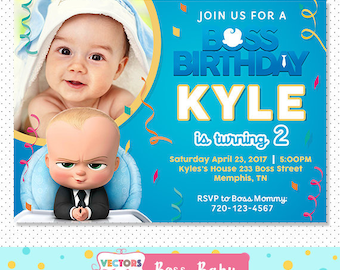 Boss baby Invitation, Boss baby Party, Boss baby Invite, Boss baby Birthday, Boss Baby Birthday Invitation, Boss Baby Movie Invite Printable