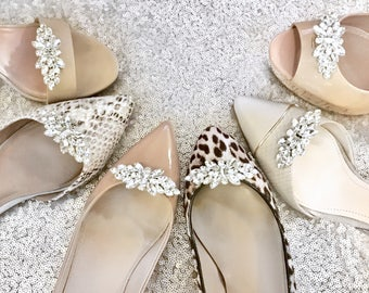 Shoe Clips - Bridal Shoe Clips Wedding Shoe Clips Wedding Shoes Bridal Shoes Bridesmaid Proposal Bridesmaid Gift Gift for Her - Style #C0117