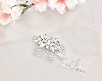 Bridal Hair Comb - Wedding Hair Piece Rhinestone Hair Comb Crystal Hair Comb Wedding Hair Pieces Bridal Hair Combs - Style #HC0117