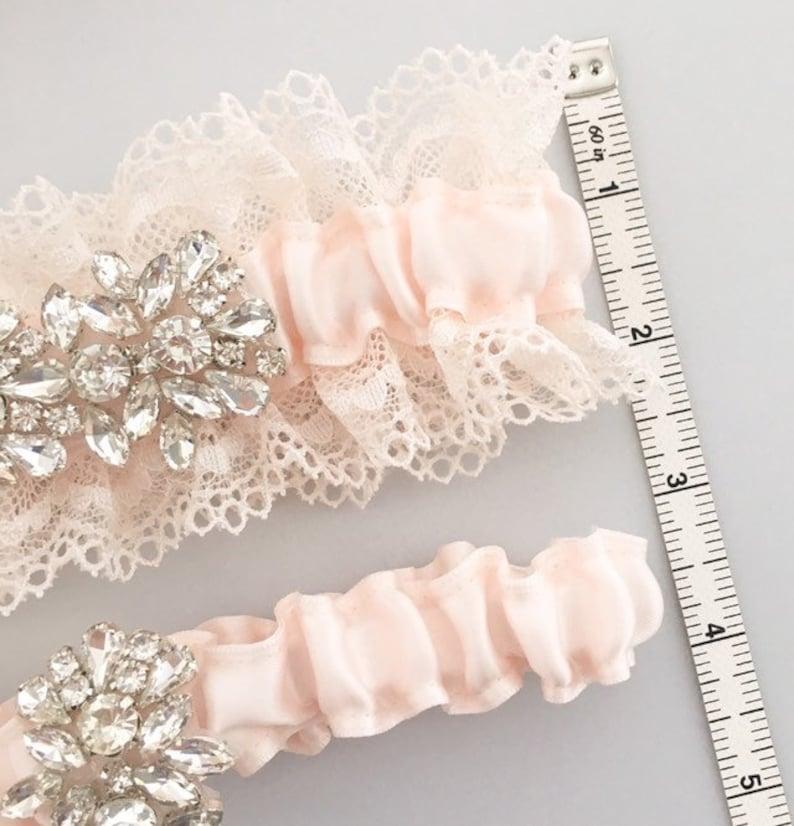 Wedding Garter Set Something Blue Bridal Garter Style #S0119 BLUSH PINK Wedding Garter Set