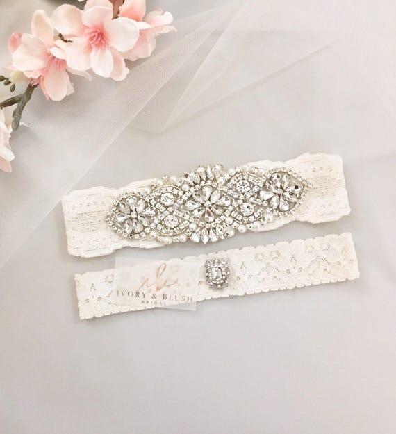 Ivory Garters Wedding: Wedding Garter ANTIQUE IVORY Wedding Garter Set Bridal