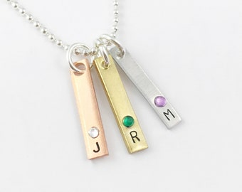 Initial Charm with Birthstone | Letter Charm | Gold Initial | Rose Gold Initial | Silver Initial | Initial Necklace | Initial Jewelry
