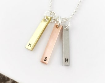 Dainty Skinny Initial Charm | Letter Charm | Gold Initial | Rose Gold Initial | Silver Initial | Initial Necklace | Initial Jewelry