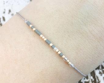 Morse Code Bracelet | Custom Morse Code Jewelry | Friendship Bracelet | String Bracelet | Message Bracelet | Meaningful Jewelry Gift for Her