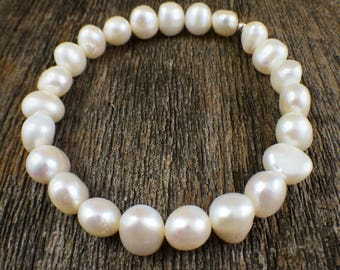 Perfectly Imperfect Pearl Bracelet - Boho Jewelry | Hippie Jewelry | Boho Bracelet | Bridal Jewelry | Bridesmaid Jewelry | Boho Jewelry