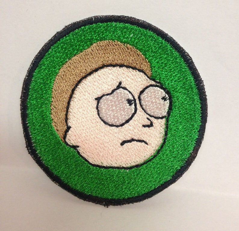 Ricky&Morty - Morty custom embroidered patch