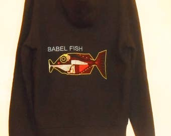 Babel Fish - Don't Panic black hoodie!