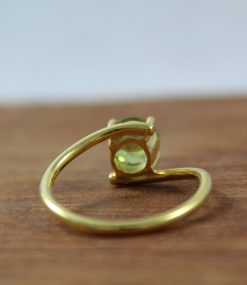 Natural Peridot Ring Statement Ring Handmade Jewelry Rose Gold Plated 925 Sterling Silver Gold Plated Ring Peridot Gemstone Ring