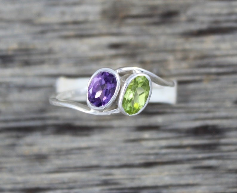 Sterling Silver 925 INFINITY HEART PROMISE RING AMETHYST /& CLEAR CZ SIZES 4-10