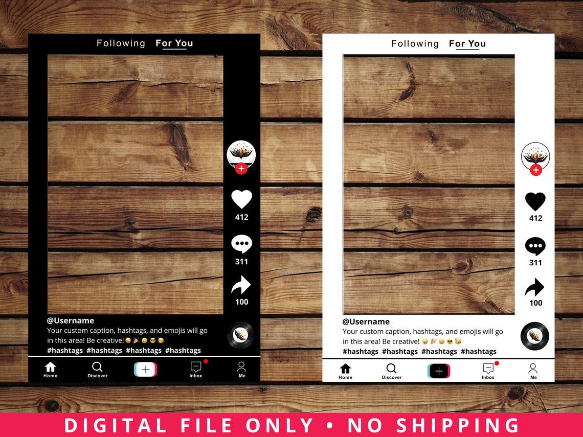 Customized Tik Tok Frame Prop DIGITAL FILE image 0