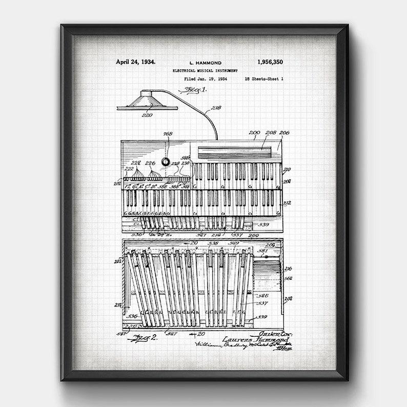 Hammond B3 Orgel · 1934 · Patent · Sofortiger Download · Musikinstrument on