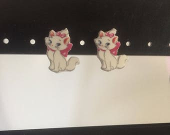 Marie Aristocats charm post earrings