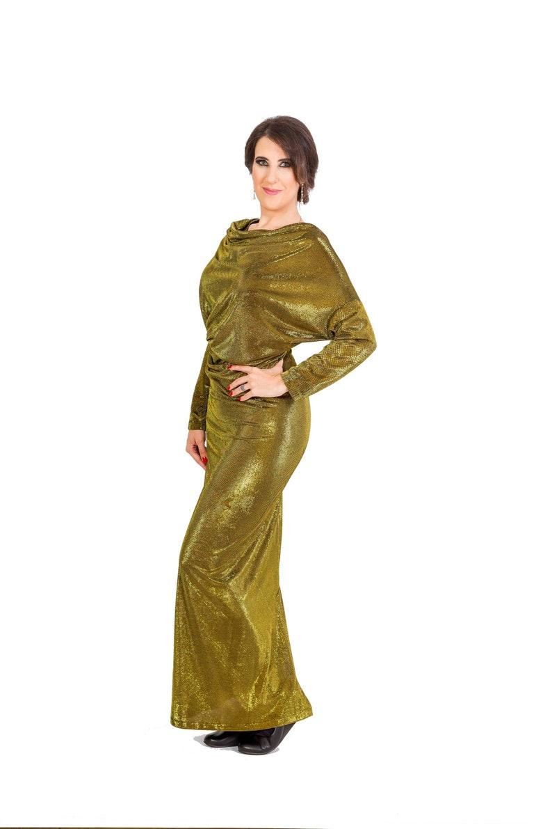 ea996601c5 Womens Dress Long Dress Maxi Dress Golden Dress Cowl Neck