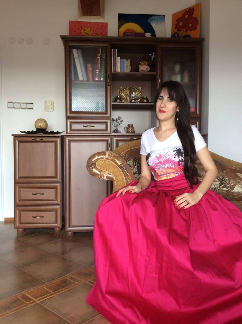ba79eb6bc2 Womens Skirt Long Skirt Maxi Skirt Pink Skirt Pleated