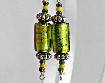Emerald City - handmade earrings