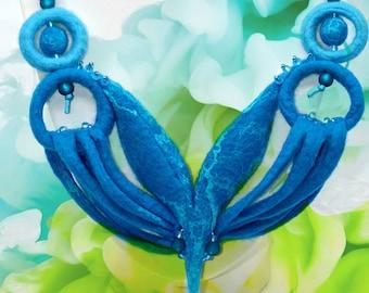 Underwater Paradise-handmade necklace made of felt