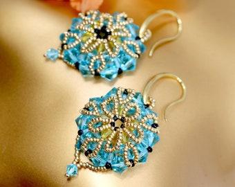Palm Island-Handmade Earrings Albena Art Design