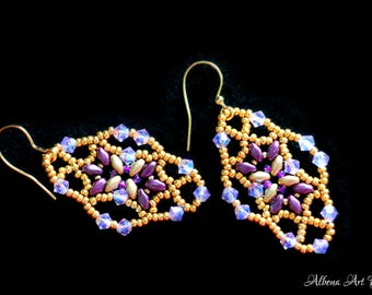 Lady Butterfly - handmade earrings