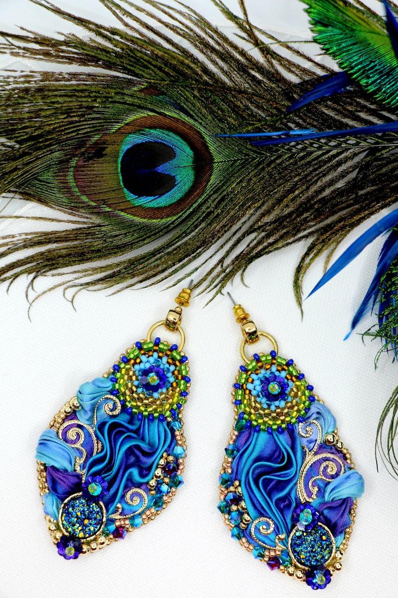 Earrings peacockAlbena Art Design image 0