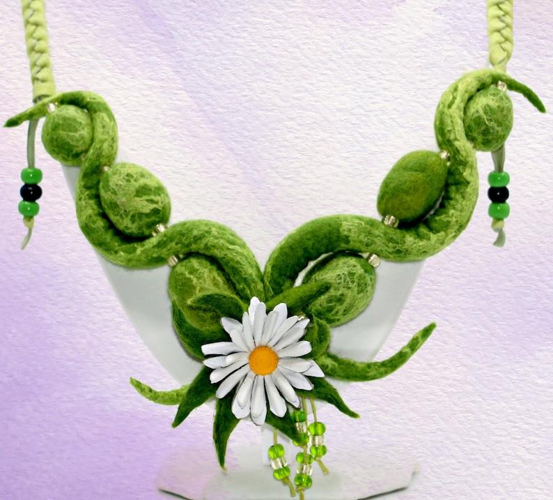 Camilla's Garden-handmade felt necklace image 0