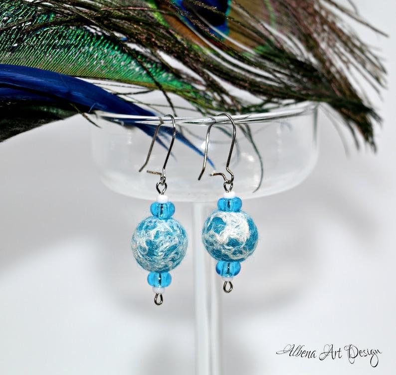 Sonata Arctica  Handmade felt earrings image 0