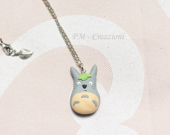 Totoro necklace in fimo.