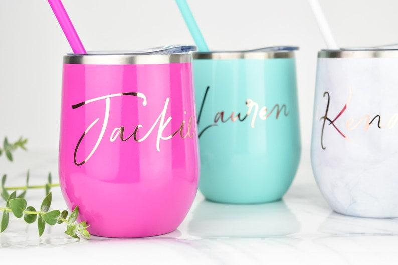 Bridesmaid Gift Custom Wine Tumbler Bachelorette Party Gift Personalized Wine Tumblers Gifts For Her Bridesmaid Gift Custom Wine Tumbler