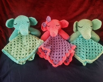 Elephant Lovey/Cuddle Toy/Baby/Baby Shower/Gift/Boy/Girl/Pink/Blue