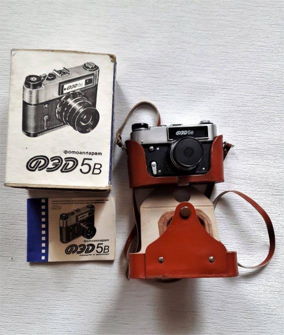 Vintage Camera FED 5V Vintage soviet camera Rangefinder Camera - Etsy Vintage Camera FED 5V Vintage soviet camera Rangefinder Camera Soviet-era cameras 35mm film camera Camera with original leather case - 웹