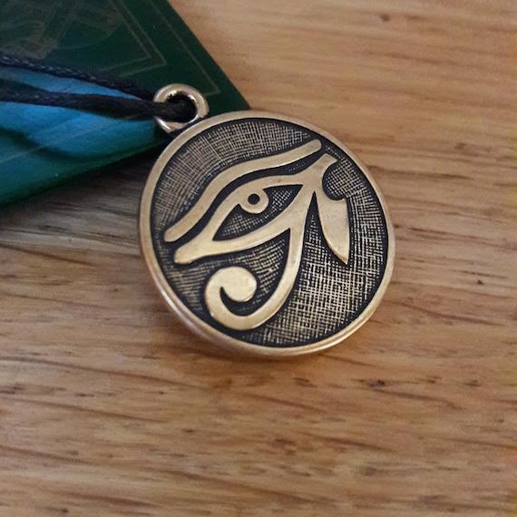 Egyptian Eye Of Horus Ra Udjat Pendant Adjustable Necklace