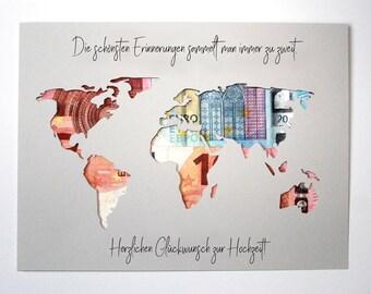 Weltkarte Gerahmt Etsy