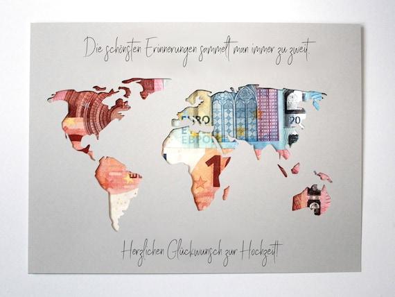 weltkarte hochzeitsgeschenk Geldgeschenk zur Hochzeit Weltkarte Farbwahl Hochzeitsgeschenk | Etsy weltkarte hochzeitsgeschenk