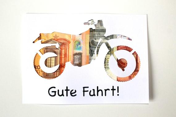 Geldgeschenk Zum Fuhrerschein Motorrad Runde Oder 18 Etsy