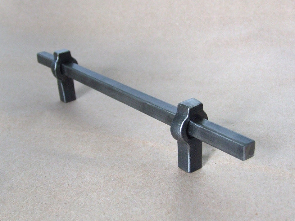 Handgefertigt aus Stahl Möbel Griffe Griffe Küchenschrank | Etsy