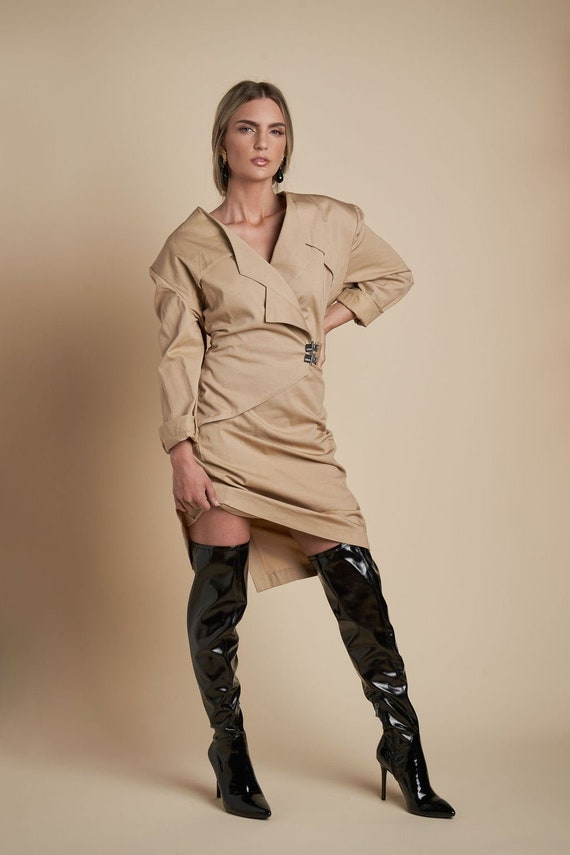 Trench Wrap Dress