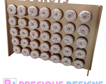 donut wall stand holds 35 to 70 donuts candy stand stall cart sweets wood