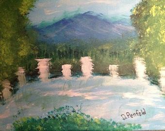 A beautiful Waterfalls Painting