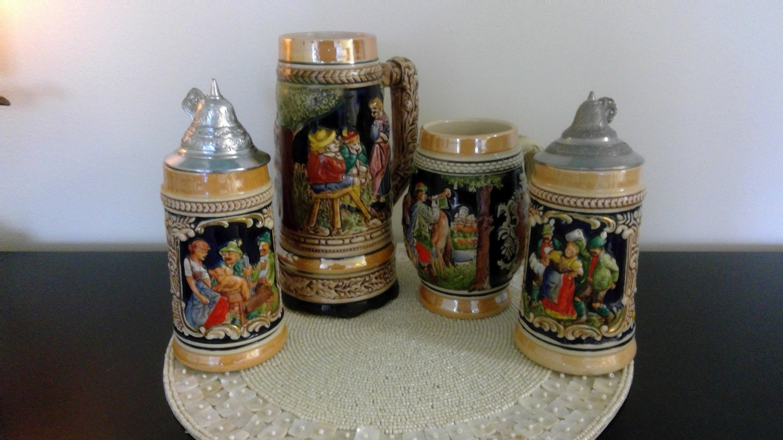 Lot of Four Avon Collectibles German Beer Mug Steins