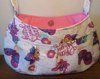 Small Purse, Small Buttercup bag, Small Handbag, Girls Purse, Shoulder Bag, Little Girl Tote, Shopkins Purse, Shopkins