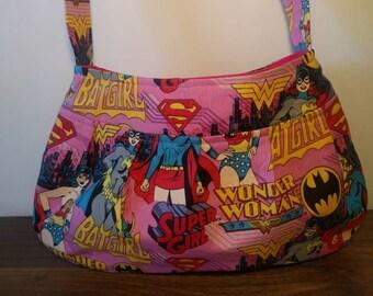Small Purse, Small Buttercup Bag, Small Handbag, Girls Purse, Girls Tote, Little Girls Purse, Super girl, Bat girl, Wonder Woman
