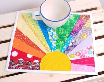 Green Bay Packers Quilted Fabric Mug Rug Coaster