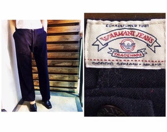 f18eb6b61 Armani Jeans authentic vintage easy leisure draw string trousers, pants  M-XL.