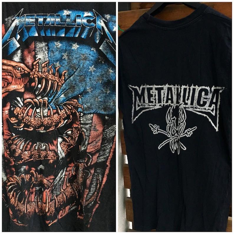 f618da43 Metallica dragon vintage band / rock / heavy metal t shirt S-M | Etsy