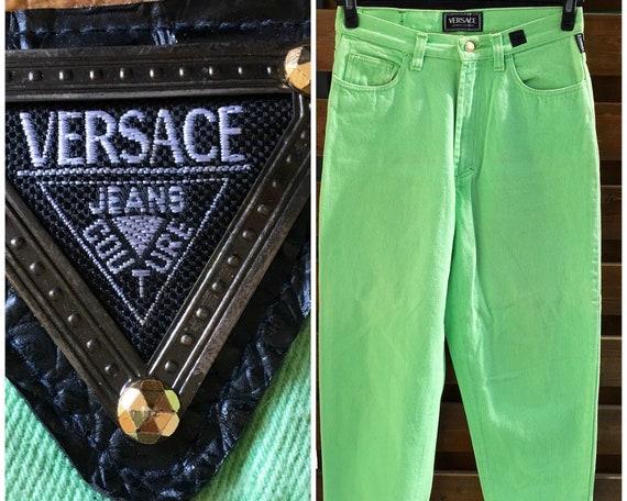 Versace Jeans Couture vintage mint green denim jea